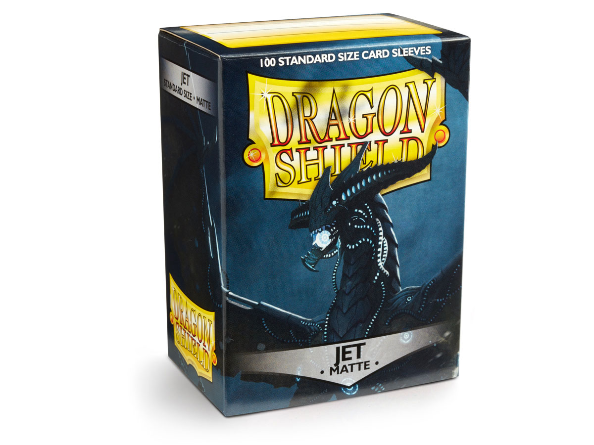 SLEEVES DRAGON SHIELD MATTE - JET
