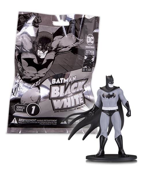 BATMAN BLACK & WHITE BLIND BAG MINI FIGS WAVE 1