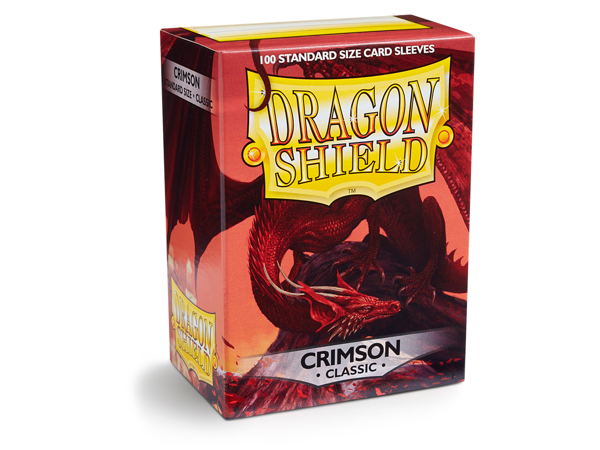 DRAGON SHIELD- STANDARD CRIMSON 100 PCS