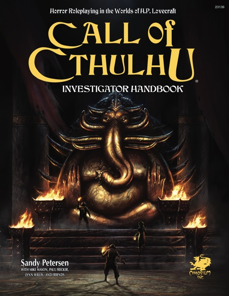 CALL OF CTHULHU RPG: INVESTIGATORS RULEBOOK HC