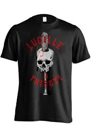 WALKING DEAD T-SHIRT LUCILLE IS THIRSTY SIZE L