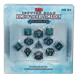 D&D NEXT ICEWIND DALE: RIME OF THE FROSTMAIDEN DICE AND MISCELLANY