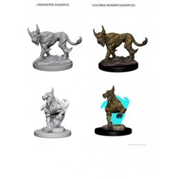 D&D NOLZUR'S MARVELOUS UNPAINTED MINIATURES - BLINK DOGS