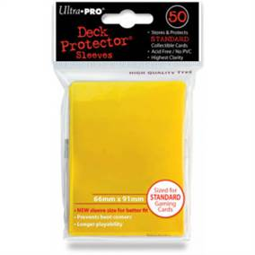 ULTRA PRO STANDARD SLEEVES (50) YELLOW