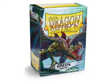 DRAGON SHIELD STANDARD SLEEVES MATTE (100) GREEN