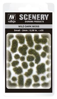 VALLEJO SCENERY DIORAMA PRODUCTS: WILD DARK MOSS (SMALL 2MM)