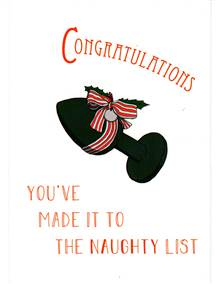YOU'VE MADE IT TO THE NAUGHTY LIST - CHRISTMAS CARD + ENVELOPE
