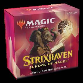 MTG - STRIXHAVEN: SCHOOL OF MAGES PRERELEASE LOREHOLD + 1 FREE BOOSTER